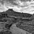 Castle Rock and the Muddy Fremont BW — Stock Photo #59207849