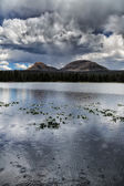 The Peaks Above the Water — Stock Photo