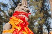 LUOYANG, CHINA - NOV 14 2014: Statue at Guanlin Temple. a famous Historic Site in Luoyang, Henan, China. — Stock Photo