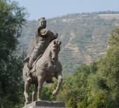 LANZHOU, CHINA - SEP 29 2014: Statue of Huo Qubing, Lanzhou, Gansu, China. was a distinguished military tactician of the Western Han dynasty. — Stock Photo