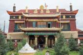 SICHUAN, CHINA - JUL 15 2014: Degongbu Temple(Temple of the Hans). a famous Lamasery in Ganzi, Sichuan, China. — Stock Photo
