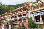 SICHUAN, CHINA - JUL 17 2014: Nanwu Monastery. a famous Lamasery in Kangding, Sichuan, China. — Stock Photo