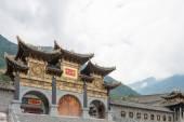SICHUAN, CHINA - SEP 13 2014: Lingshan Temple. a famous Temple in Mianning, Xichang, Sichuan, China. — Fotografia Stock