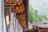 SICHUAN, CHINA - SEP 13 2014: Lingshan Temple. a famous Temple in Mianning, Xichang, Sichuan, China. — Stock Photo