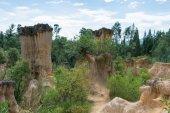 SICHUAN, CHINA - SEP 14 2014: Huanglian Earth Forest. a famous landscape in Xichang, Sichuan, China. — Foto de Stock