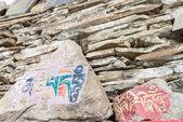 LITANG, CHINA - Jul 17 2014: Mani stone at Ganden Thubchen Choekhorling Monastery (Lithang Gompa). a famous Monastery in Litang, Sichuan, China. — Stock Photo