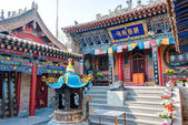 XINING, CHINA - Jul 6 2014: South Mountain Temple(Nanshan si). a famous landmark in the Ancient city of Xining, Qinghai, China. — Stock Photo