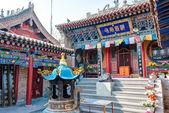 XINING, CHINA - Jul 6 2014: South Mountain Temple(Nanshan si). a famous landmark in the Ancient city of Xining, Qinghai, China. — Stock Photo