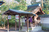 KYOTO, JAPAN - Jan 11 2015: Munakata Shrine of Kyoto Gyoen Garden. a famous historical site in the Ancient city of Kyoto, Japan. — Stock Photo