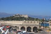 ANTIBES, FRANCE - AUG 27, 2014: fortress of Port Vauban — Stock Photo