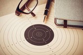 Goal setting with target, objectives and planning concept — Stock Photo