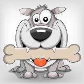 Happy cartoon vector dog — Stock Vector