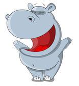 Cartoon vector hippopotamus — Stock Vector