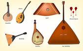 Ensemble d'instruments de musique — Vecteur