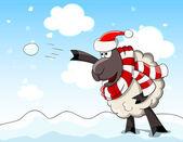Nice cartoon sheep — Stock Vector