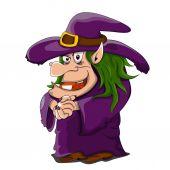 Vector cartoon witch — Stock Vector
