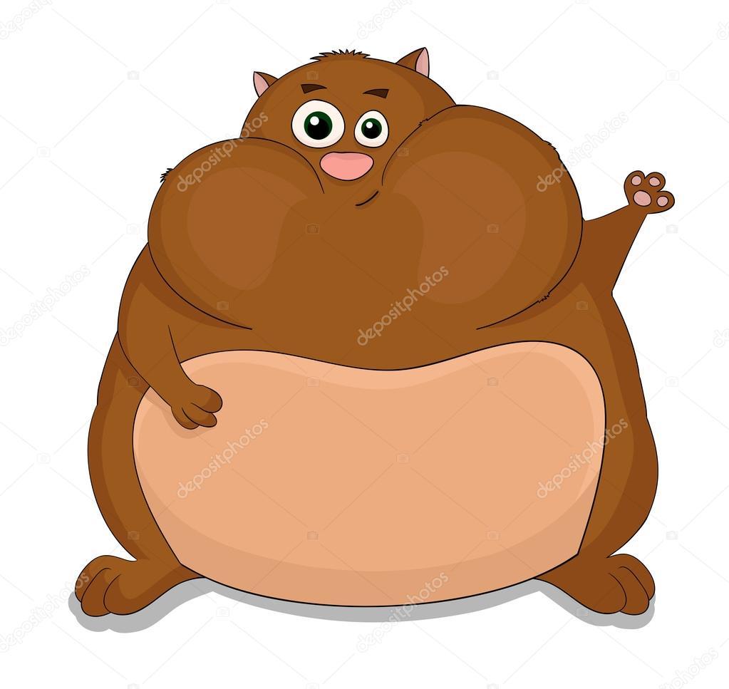 Hamster mignon dessin anim image vectorielle aliaksei z - Hamster dessin anime ...
