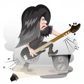 Cartoon vector guitar player — Stock Vector