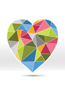 Coração de diamante colorido — Vetor de Stock