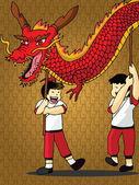 Dragon Dance Vector — Vecteur