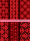 Crimson Red Seamless Pattern. — Stock Vector