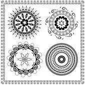 Round Ornament Pattern brush — Stock Vector