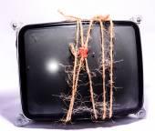 老式阴极射线管 Crt — 图库照片