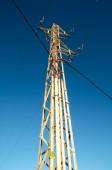 電気送電鉄塔 — ストック写真
