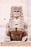 Sphinx of the Old Masonry Temple in Tenerife — Stock Photo