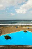 Blauwe zwembad — Stockfoto