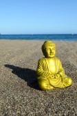 One Ancient Buddha Statue — Stockfoto