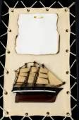 Estatueta de navio de madeira — Fotografia Stock