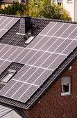 Green Renewable Energy with Photovoltaic Panels — Stock Photo