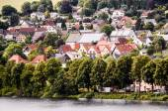 Ancient Lake European Village — Stock fotografie