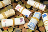 Spridda pengar — Stockfoto