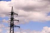 High Voltage Electric Transmission Tower — ストック写真