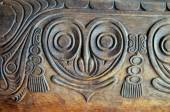 Antique Carved Wood Bas Relief — Stock Photo