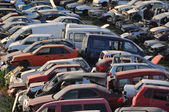 Old Junk Cars On Junkyard — Stock Photo