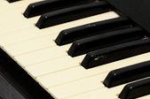 Zbliżenie klawiatury fortepianu — Zdjęcie stockowe