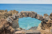 Stone Arch Window — Stock Photo