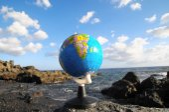 Planeta tierra globos Vintage — Foto de Stock