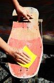 Ripristinare un vecchio skateboard — Foto Stock