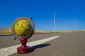 Globe on the Road — Photo