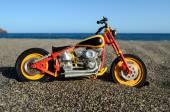 Motorcykel på stranden — Stockfoto