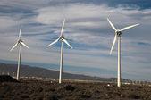 Мощность генератора ветроустановки — Стоковое фото