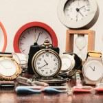 Many different Clocks — Stock Photo #64250123