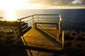 Cais do nascer do sol — Foto Stock