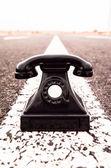 Teléfono vintage negro — Foto de Stock