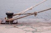 旧的老式海军绳 — 图库照片