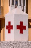 Muestra médica de Cruz Roja — Foto de Stock